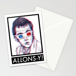10th Doctor 3D Glasses Stationery Cards