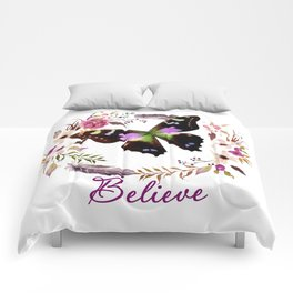 Believe butterfly Comforters