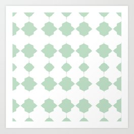 Minty_Geo_Love_ Art Print