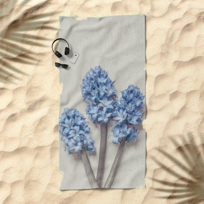 Light Blue Hyacinths Beach Towel