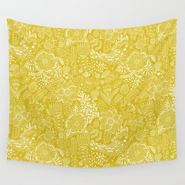 Yellow birds Wall Tapestry