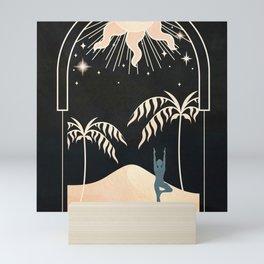 Sun Glow Beyond the Arch Mini Art Print