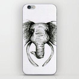 Sketch Elephant iPhone Skin