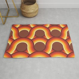 Rollin' Retro Road in Orange Ombre + Tan  Rug