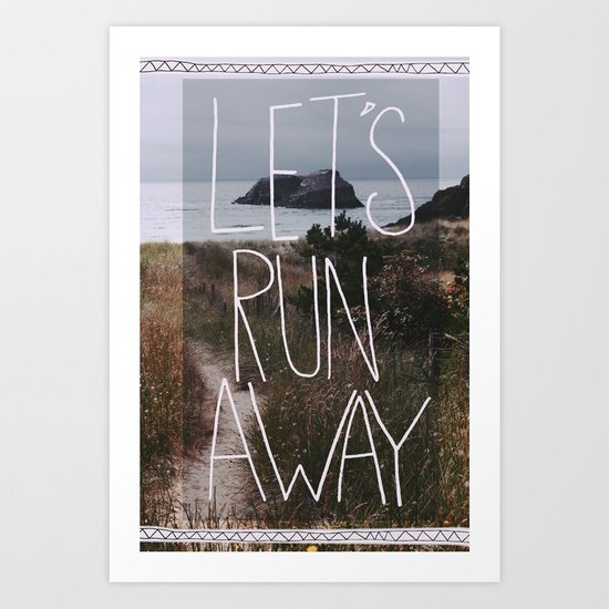 Let's Run Away: Cannon Beach, Oregon Art Print