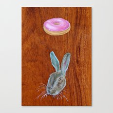 Doughnut & Rabbit Canvas Print