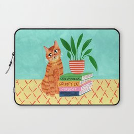 Cat, books and plants Laptop Sleeve