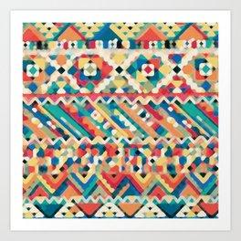 an aztec pattern.  Art Print