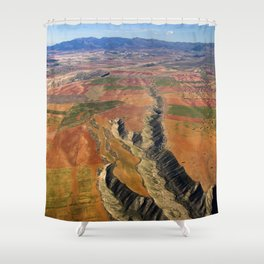 Baza Plateau. Canyon River Gor. Baza Natural Park Shower Curtain