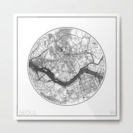Seoul Map Universe Metal Print