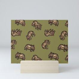 Baby Malayan tapir Mini Art Print