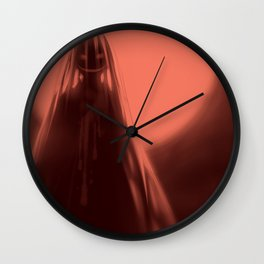 Red Moon (#Drawlloween2016 Series) Wall Clock