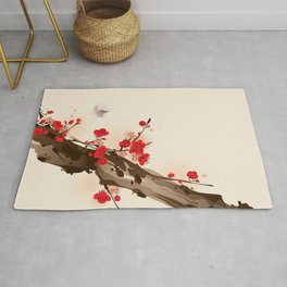 Oriental plum blossom in spring 010 Rug