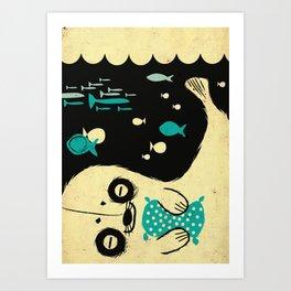 Panda Seal Art Print