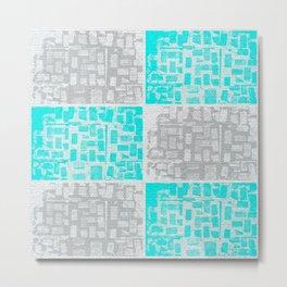 Two tone brick collage Metal Print