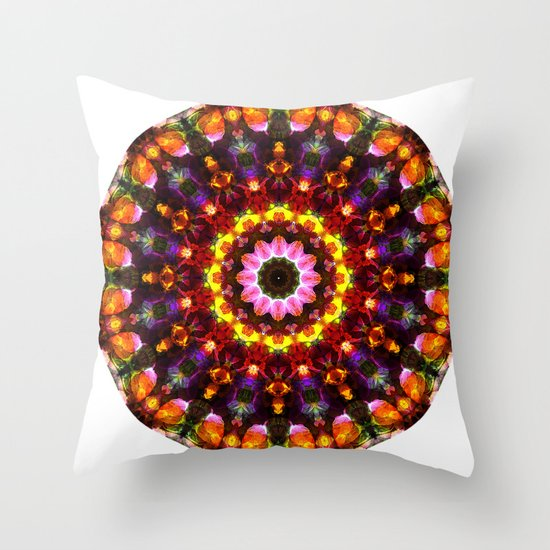 Pansy Kaleidoscope Throw Pillow