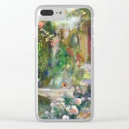 Bird Bath Fountain Clear iPhone Case