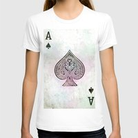 card T-shirts featuring ace card by Maria Enache