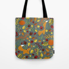 Fox In The Leaves Tote Bag