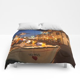 Decorated fishing boats Comforters