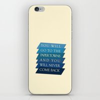 paper towns iPhone & iPod Skins featuring you will go to the paper towns by Sarah Turbin