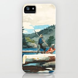 Logging on the Hudson River iPhone Case