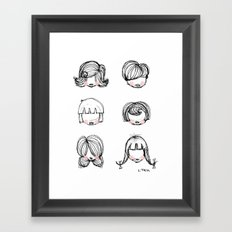 Hairstyles Framed Art Print