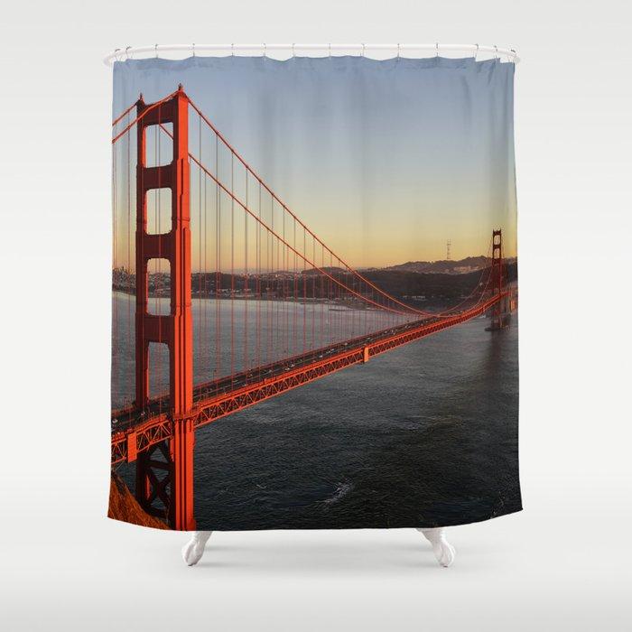 Golden Gate Bridge In San Francisco Shower Curtain