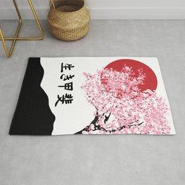 ikigai cherry blossom Rug