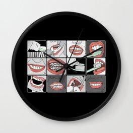 Dentistry horizontal Wall Clock