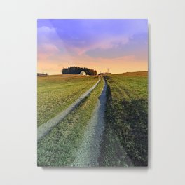 Picturesque indian summer scenery | landscape photography Metal Print
