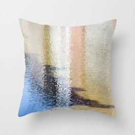 Light and Shadow Reflections (City Walks) Throw Pillow