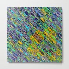 Spectral Distortion Metal Print