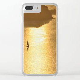 Sailing on a Golden Sea Clear iPhone Case
