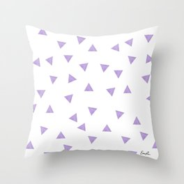 90's Purple Watercolor Triangles Throw Pillow