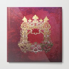 Ink Stained Crimson Book Metal Print
