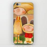 mom iPhone & iPod Skins featuring Mom by Gabriela Granados