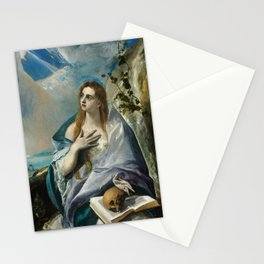 """El Greco (Domenikos Theotokopoulos) """"The Penitent Magdalene"""" Stationery Cards"""