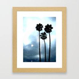 Twilight Palm Trees Framed Art Print