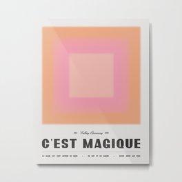 C'est Magique - Pink Metal Print