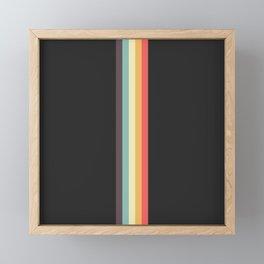 Minimal Classic Rainbow Retro Stripes - Tipua Framed Mini Art Print
