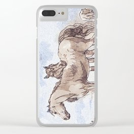 Companions - horse love Clear iPhone Case