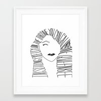 lorde Framed Art Prints featuring Lorde by marissayee14