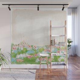 CottageCore Wildflower Landscape Wall Mural