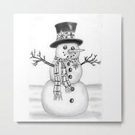 the snowman Metal Print