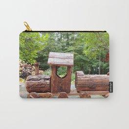 Wooden train | train en bois Carry-All Pouch