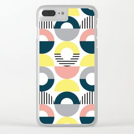 Retro style pattern 7 Clear iPhone Case