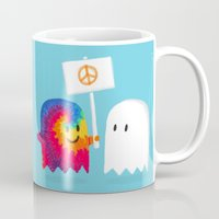 hippie Mugs featuring Hippie ghost by Picomodi