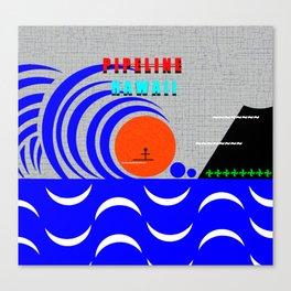 Pipeline Hawaii stickman design A Canvas Print