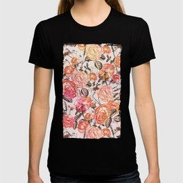 Vintage Floral Watercolor Pattern T-shirt